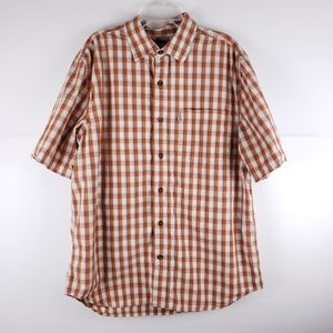 Carhartt Orange Plaid Shirt Size Large